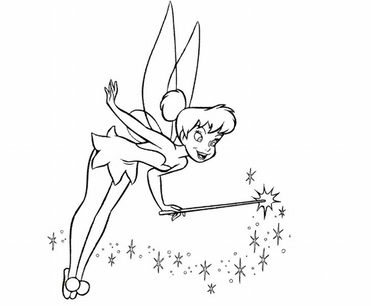 Wand Coloring Page Tinkerbell Color Pages to