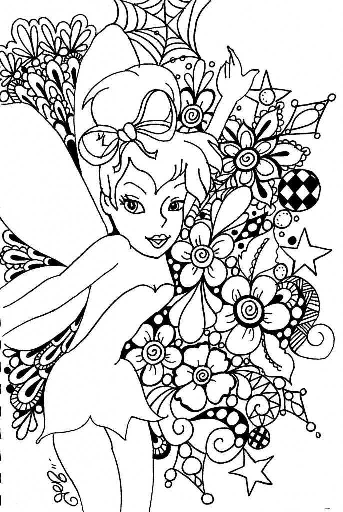 coloring book pages of tinkerbell - photo#34