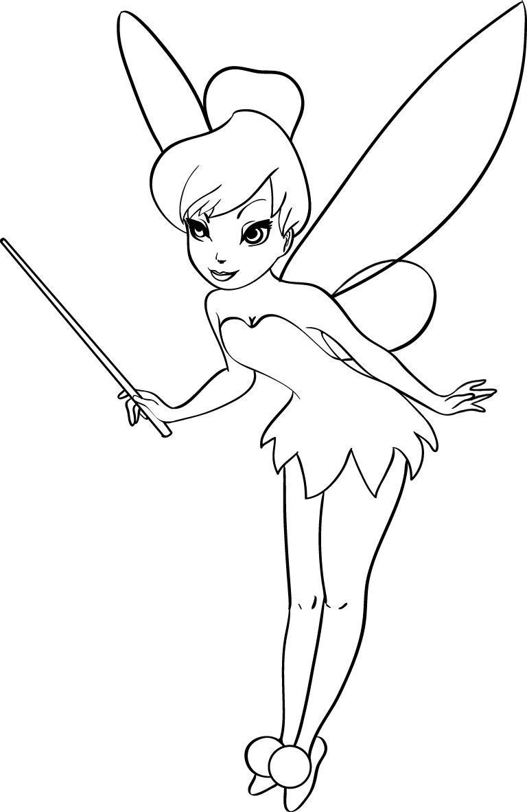 Tinkerbell Coloring Pages Prepossessing Free Printable Tinkerbell Coloring Pages For Kids 2017