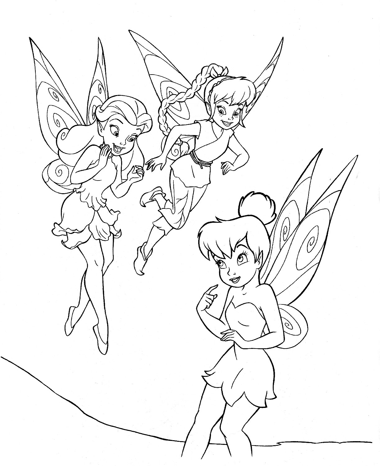 Free printable tinkerbell coloring pages for kids for Coloring pages t