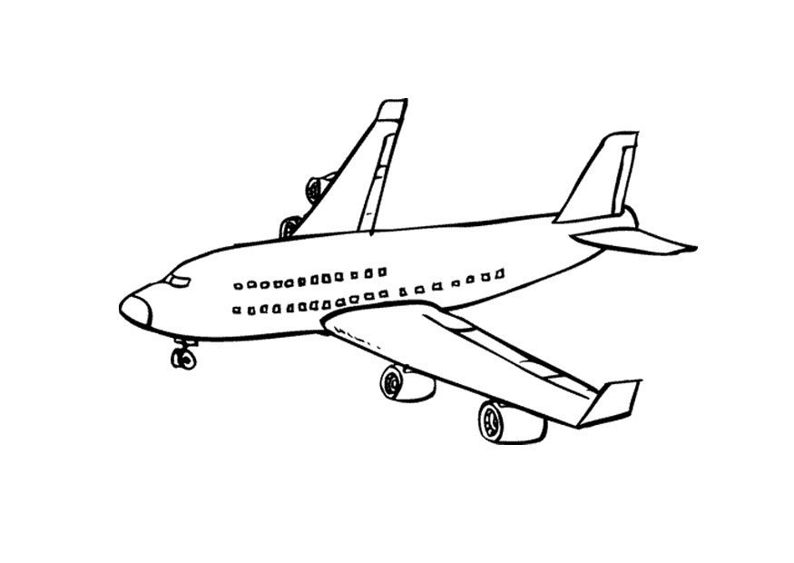 Airplane Coloring Page Photos