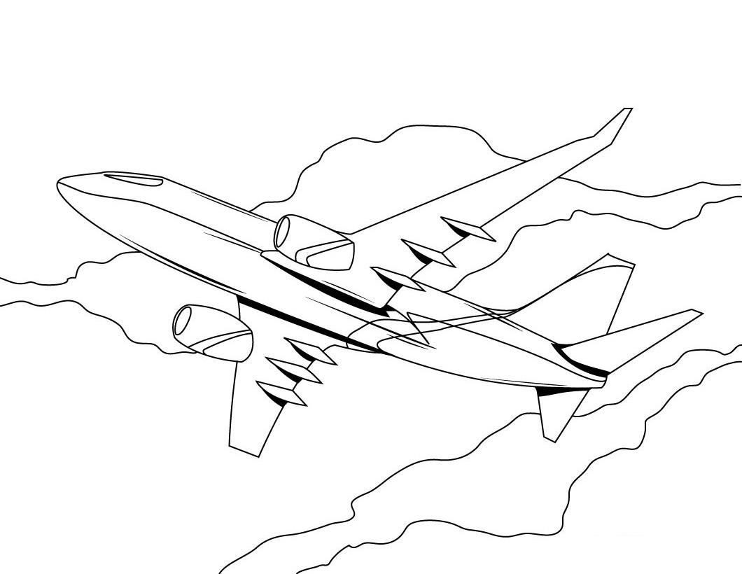 coloring book pages of airplanes - photo#13