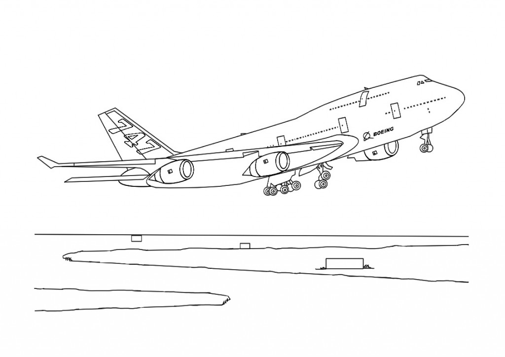 coloring book pages of airplanes - photo#19