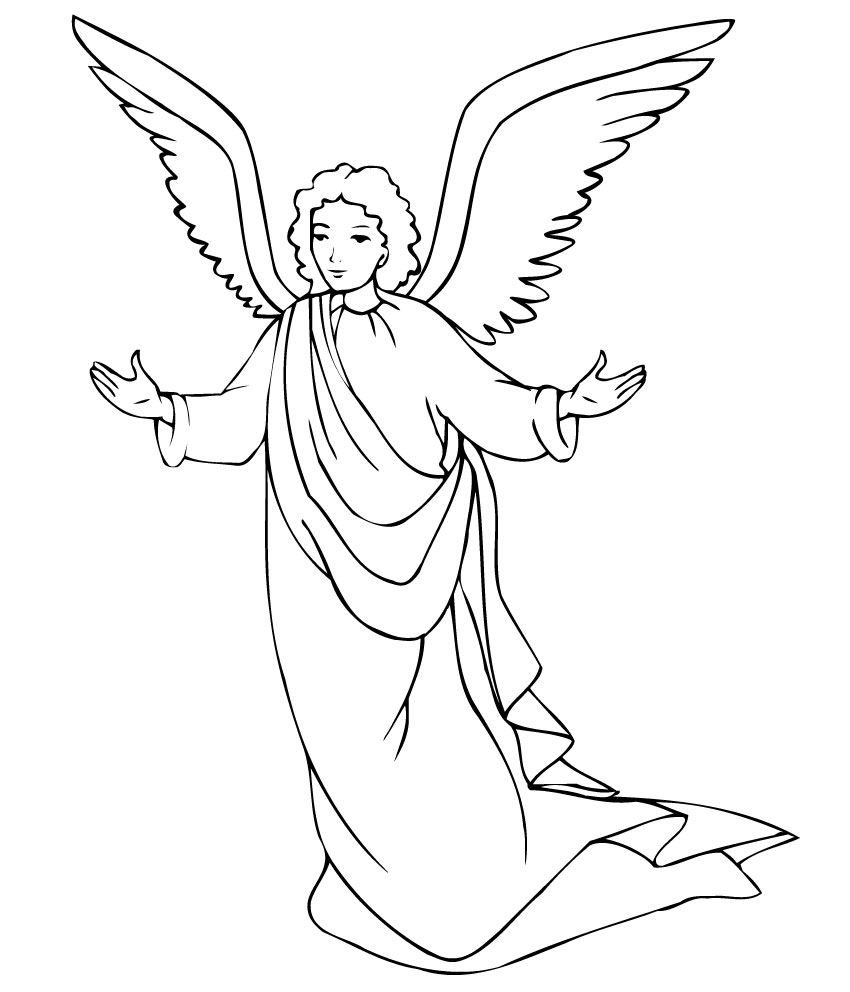 coloring page angel free printable angel coloring pages for kids