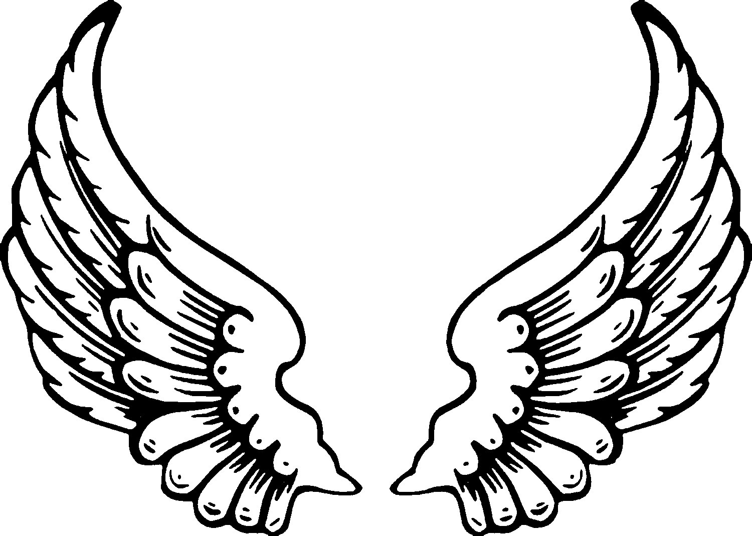 free angel wings coloring pages - photo#1