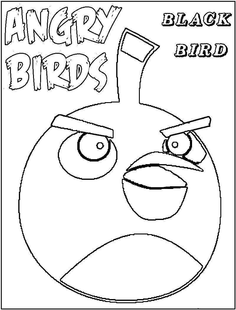 Free Printable Angry Bird Coloring Pages For Kids Angry Birds Coloring Pages For