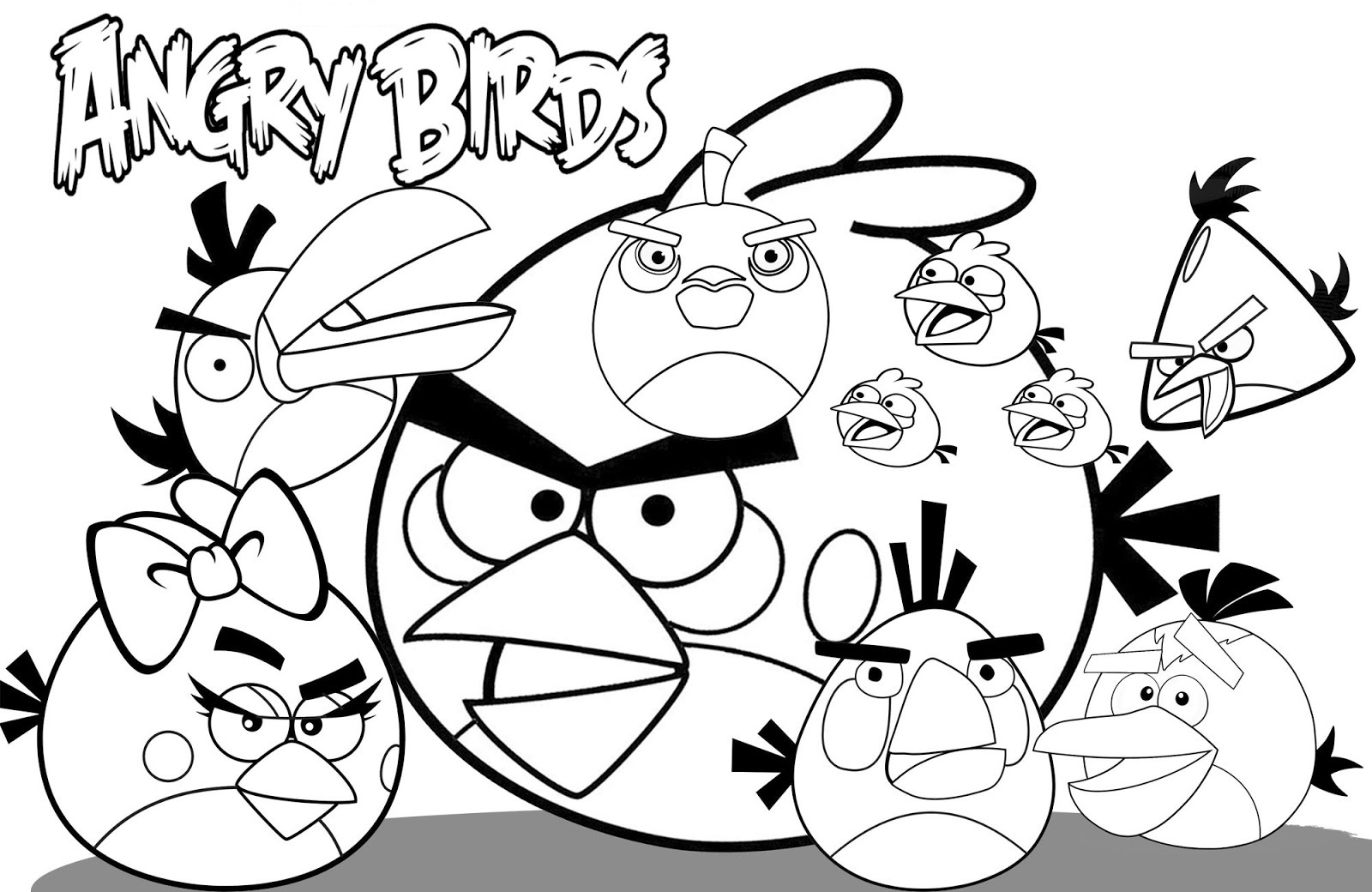 Free printable angry bird coloring pages for kids for Coloring pages birds