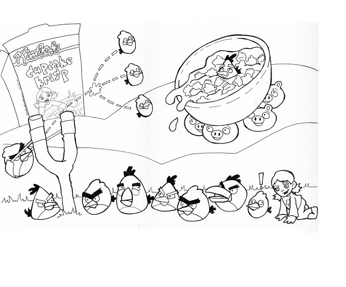 Angry Birds Coloring Pages For Learning Colors  Angry