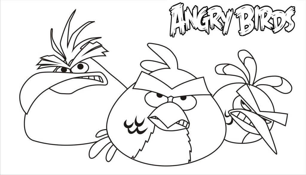 Angry Birds Coloring Pages Print