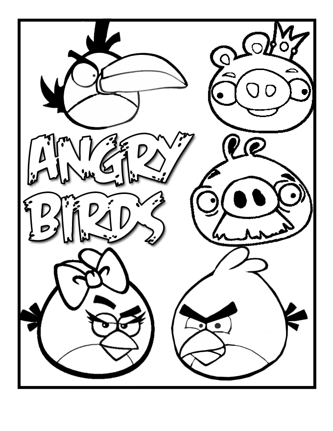 <b>Angry</b> <b>Birds</b> Free Coloring Pages