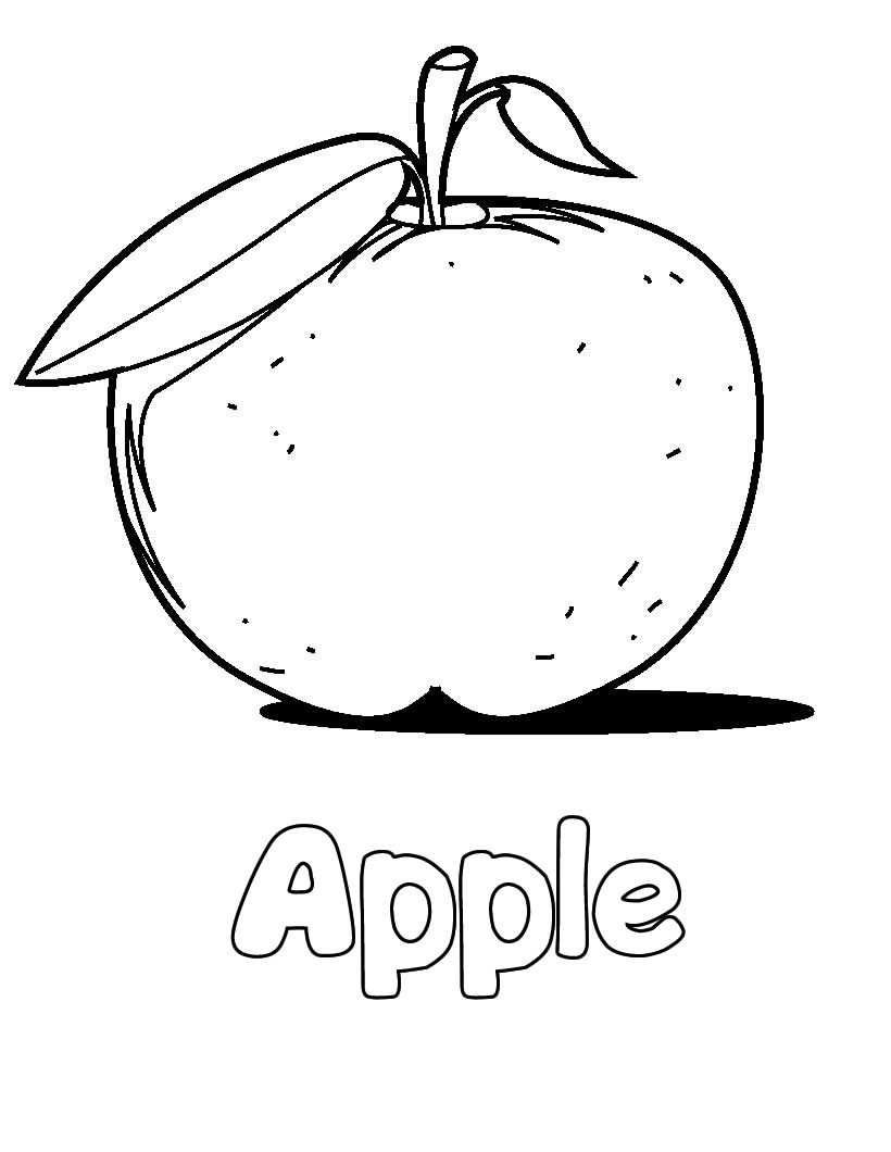 Free Coloring Pages Of An Apple : Free printable apple coloring pages for kids
