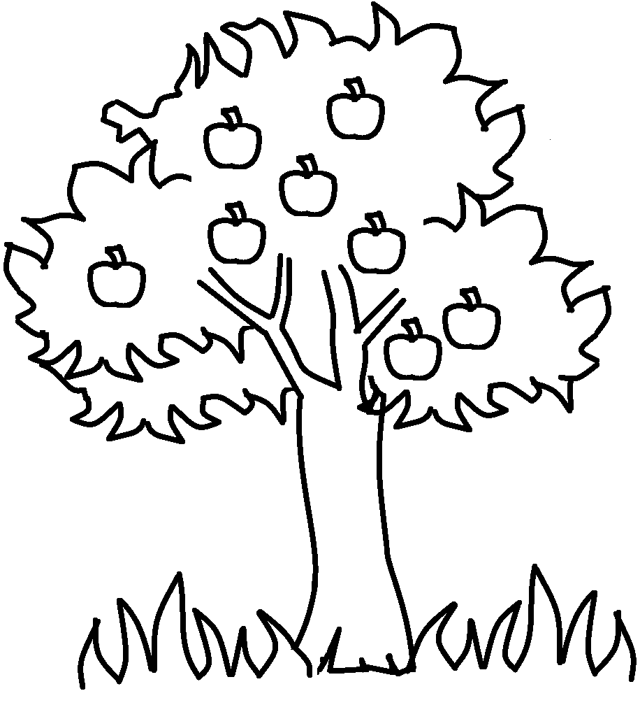 apple tree coloring pages - photo#6