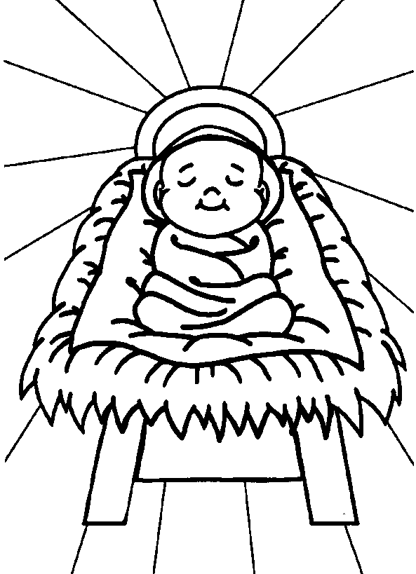 Free printable jesus coloring pages for kids for Coloring pages baby jesus in manger