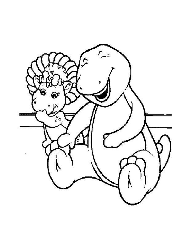 barney coloring pages kids for free - Barney Coloring Book