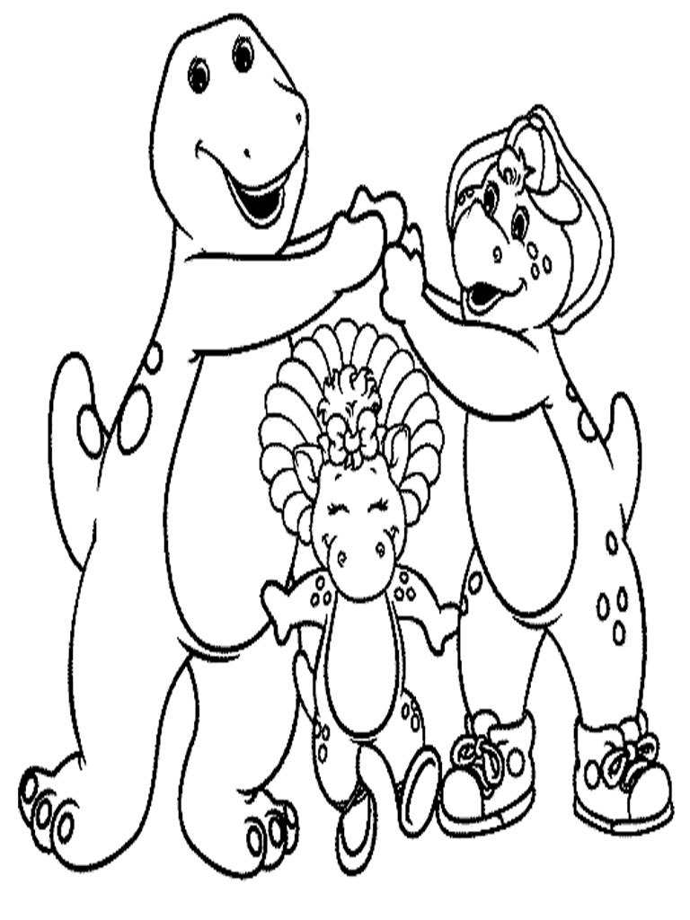 christmas barney coloring pages - photo#33