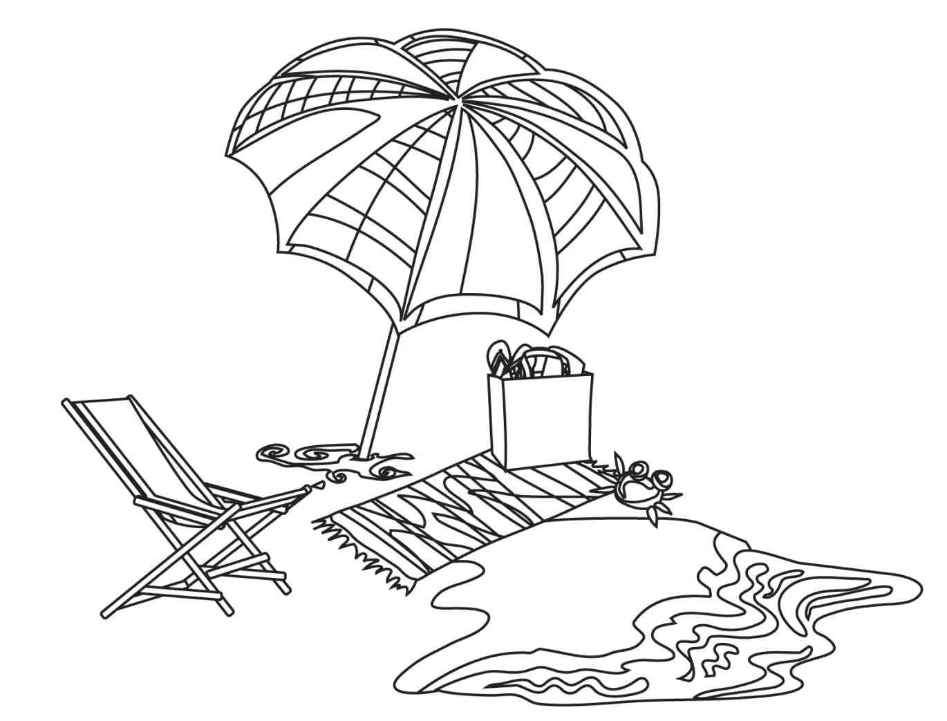 free online beach coloring pages - photo#24