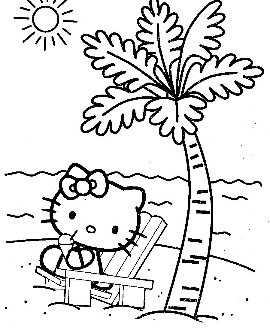 free online beach coloring pages - photo#16