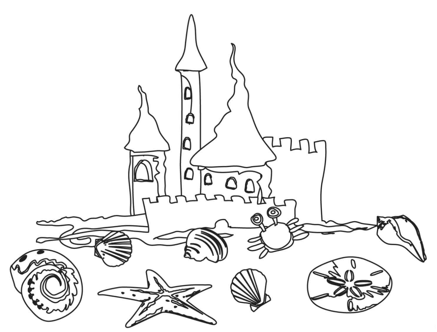 free online beach coloring pages - photo#8