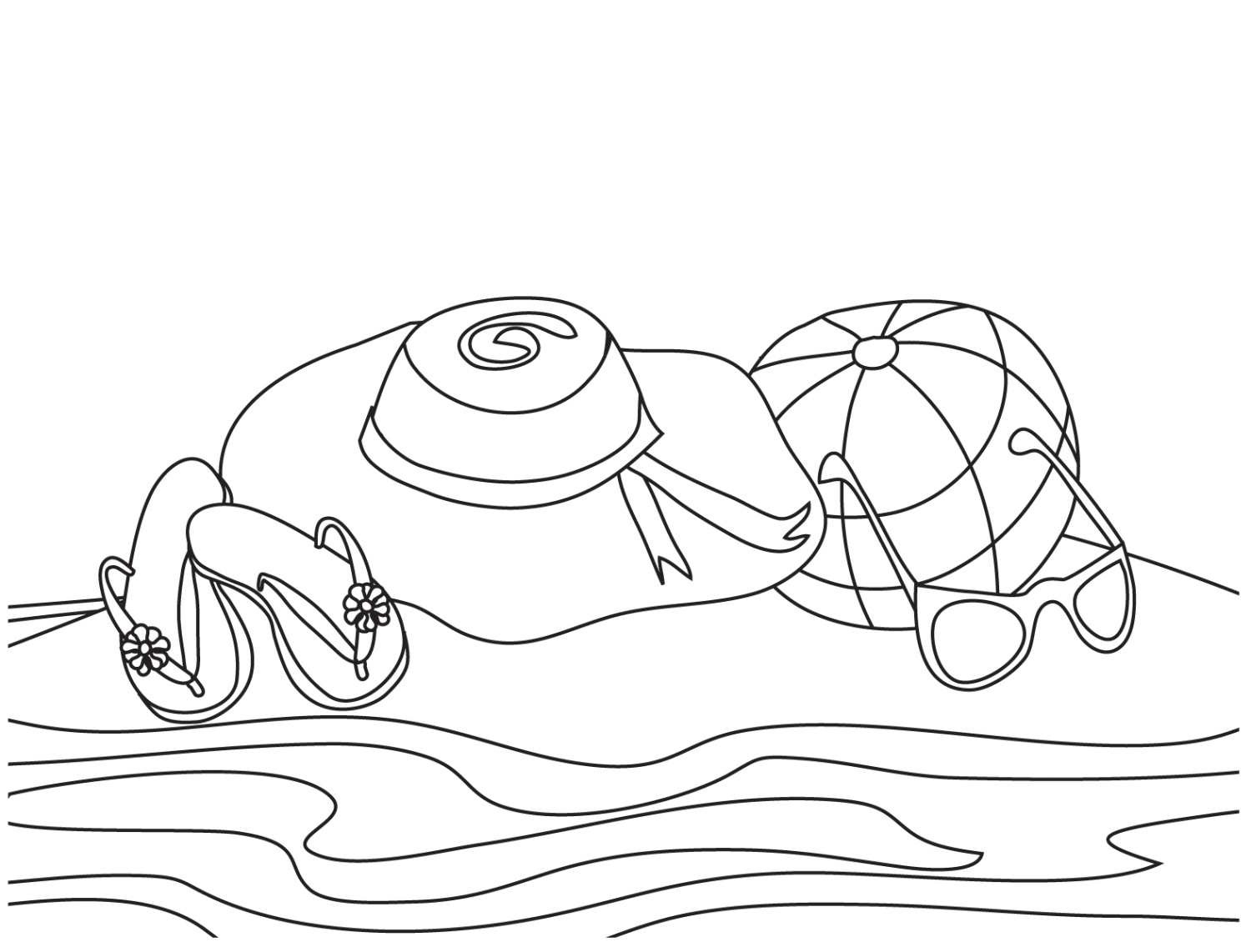 beach coloring pages - photo#23