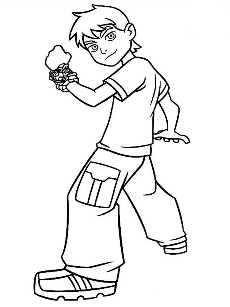 fun coloring pages online - free printable ben 10 coloring pages for kids