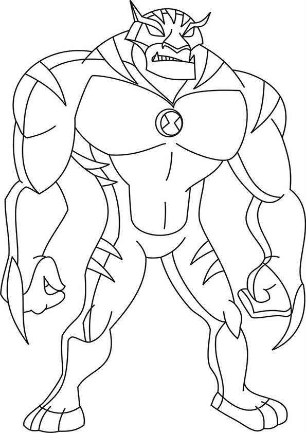 coloring pages ben 10 - photo#14