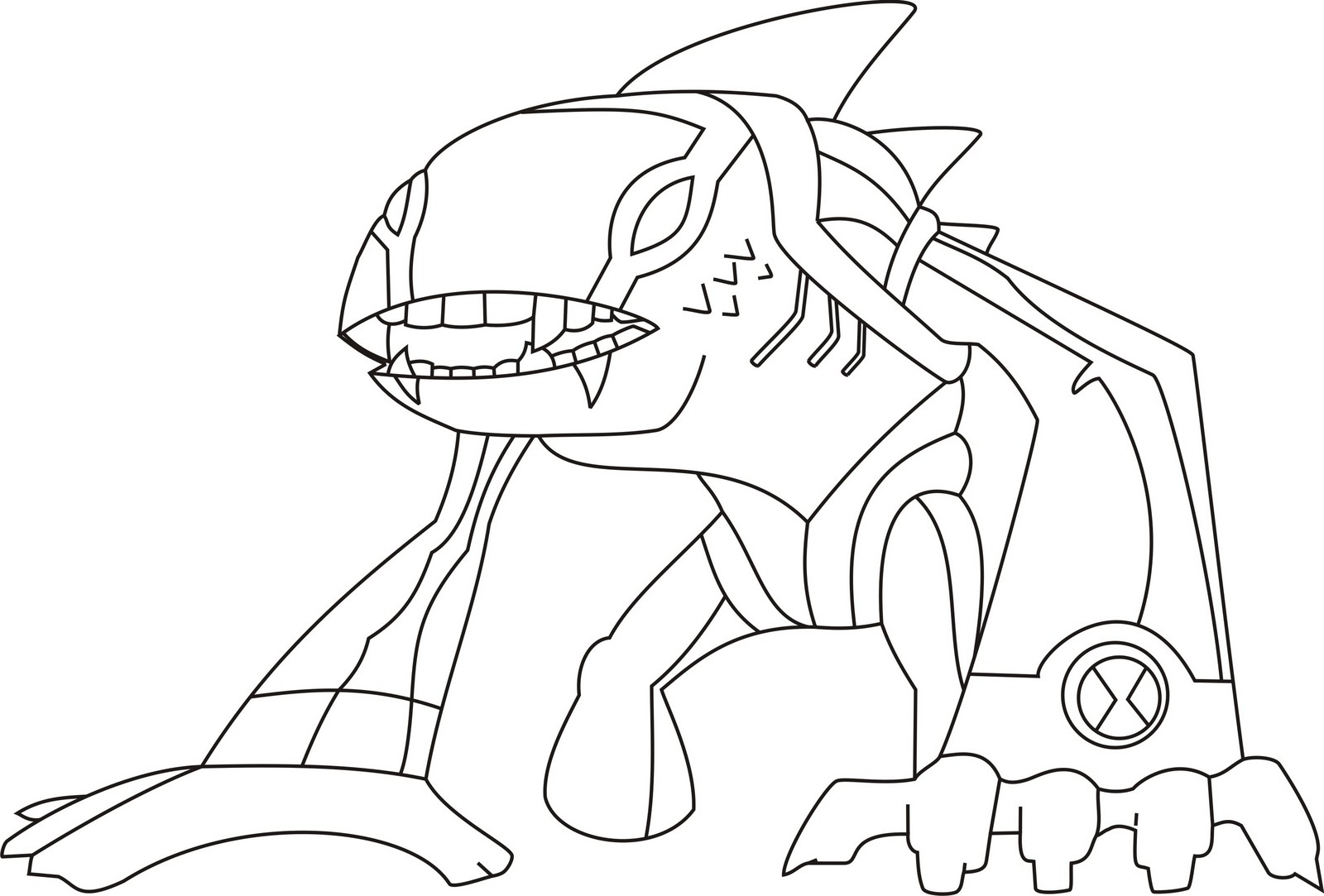 coloring pages ben 10 - photo#16