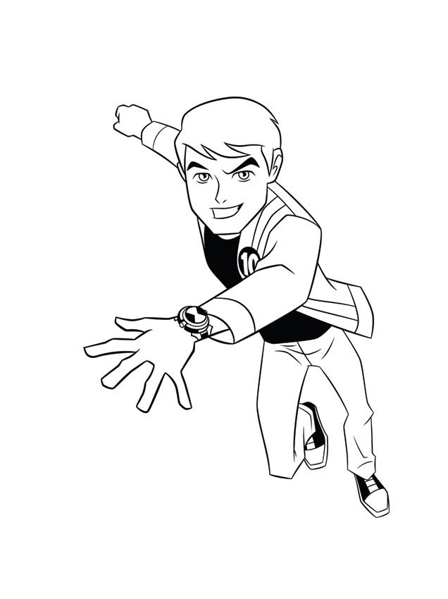 Ben Ten Coloring Page Pictures