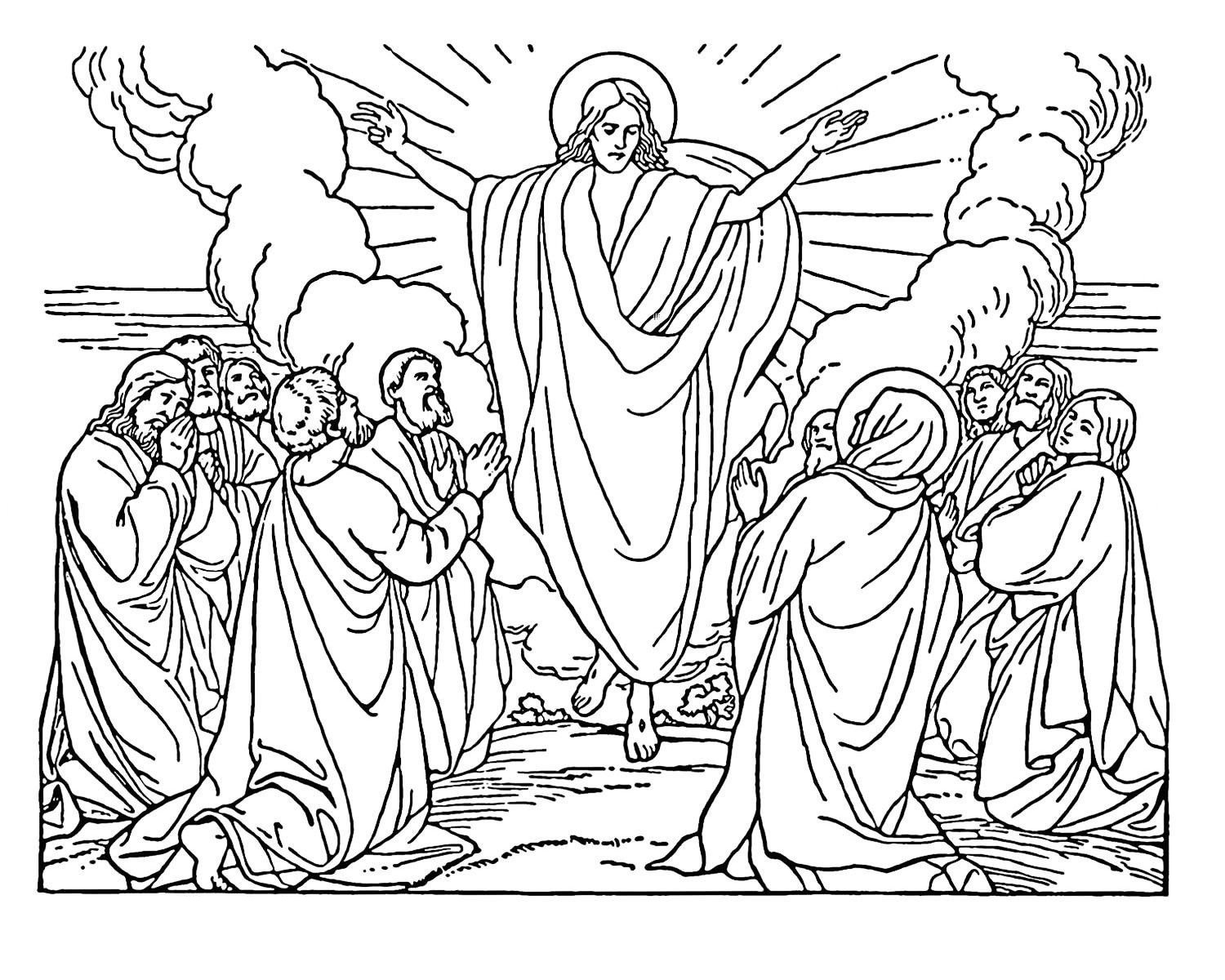 Free printable bible coloring pages for kids for Coloring pages of jesus