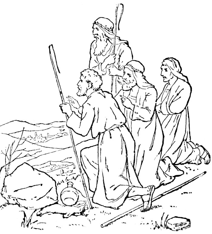 jesus bible story coloring pages - photo#24