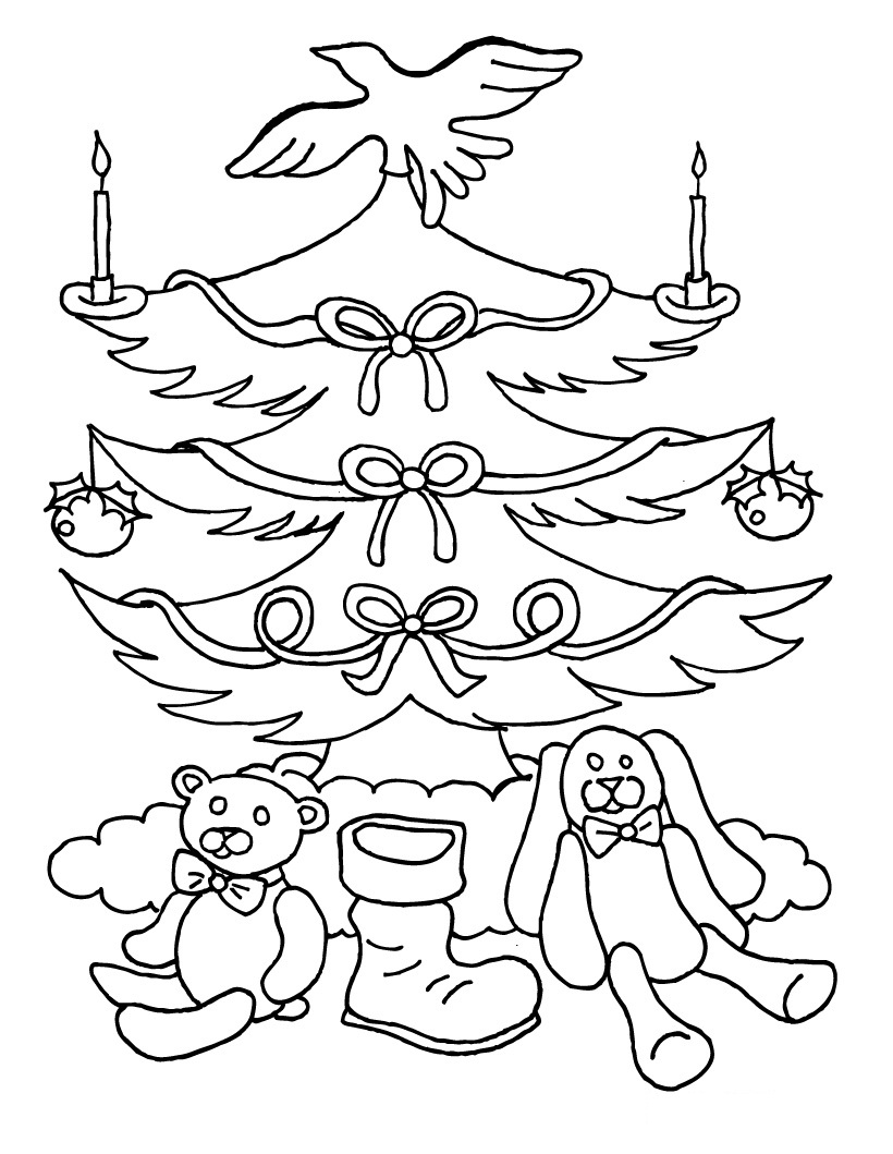 blank christmas tree coloring pages - Blank Coloring Pages