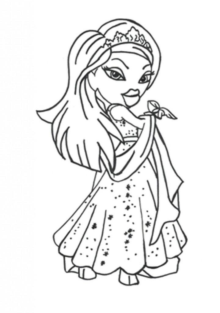 bratz coloring pages cloey - photo#13