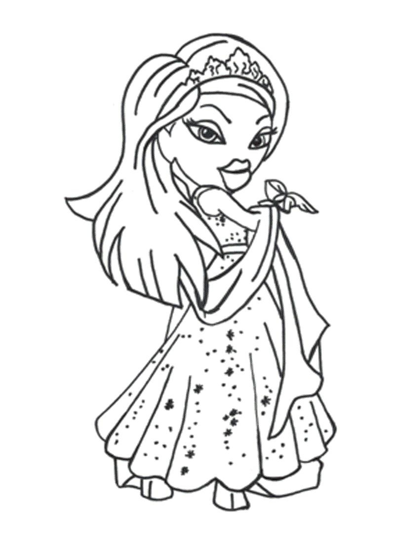 Free printable bratz coloring pages for kids for Coloring pages for kids download