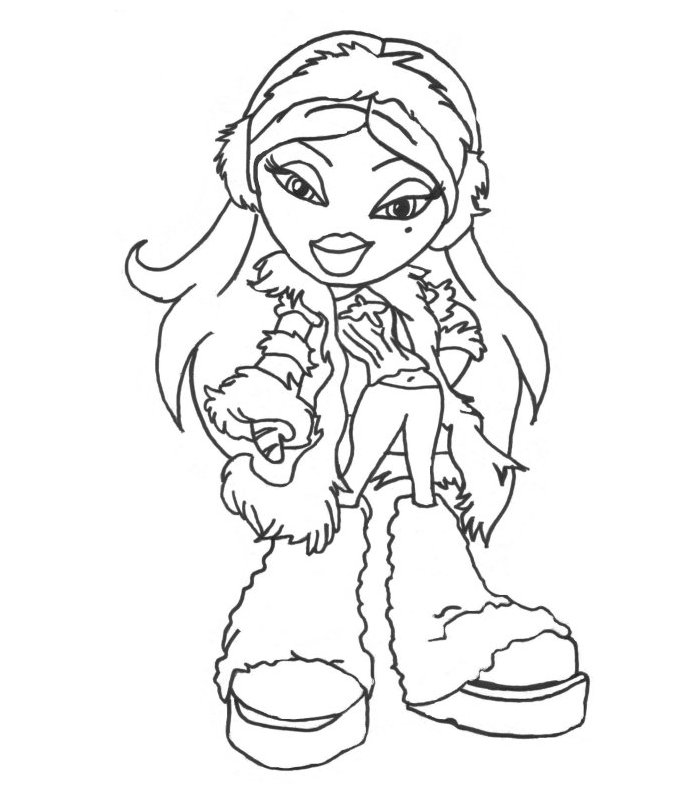 printable bratz doll coloring pages - photo#23