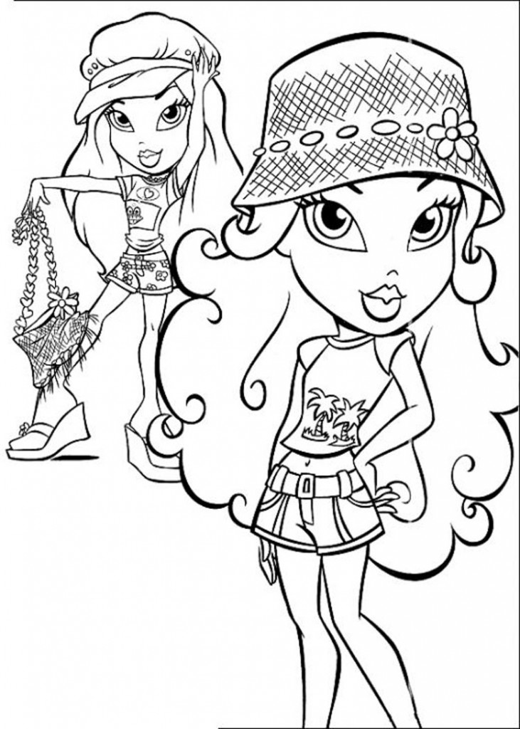 Free printable bratz coloring pages for kids for Free coloring book pages to print