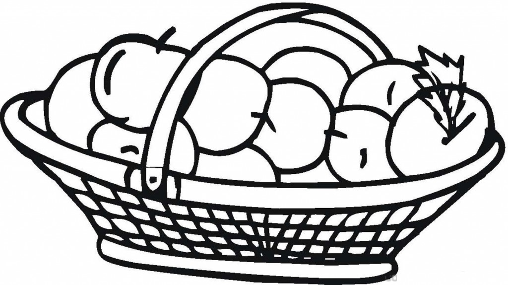 Busket Apple Coloring Pages