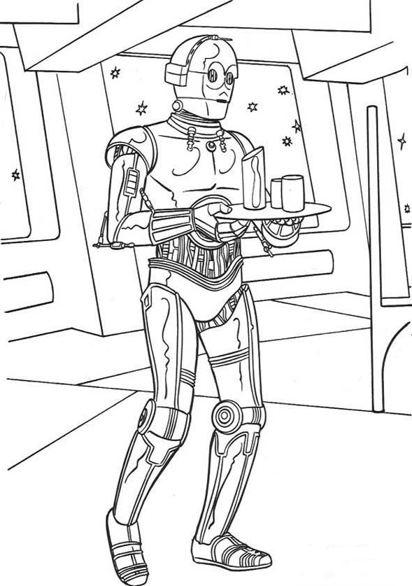 C3PO - Star Wars Coloring Pages