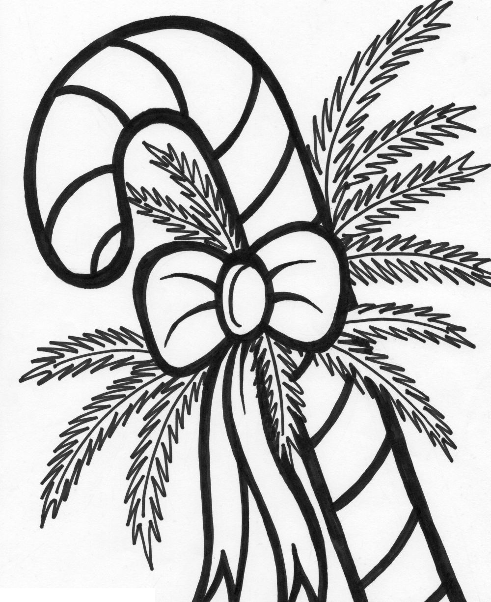 Clip Art Coloring Pages Of Candy Canes free printable candy cane coloring pages for kids pictures