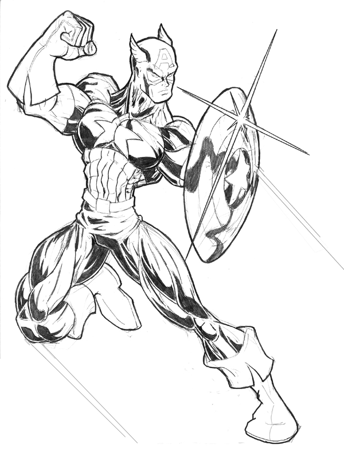 Captain America Coloring Pages Images