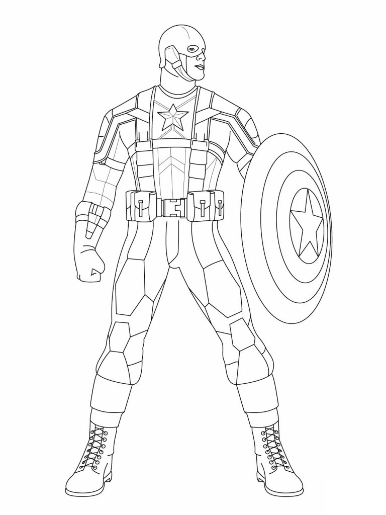 Captain America Coloring Pages Photos
