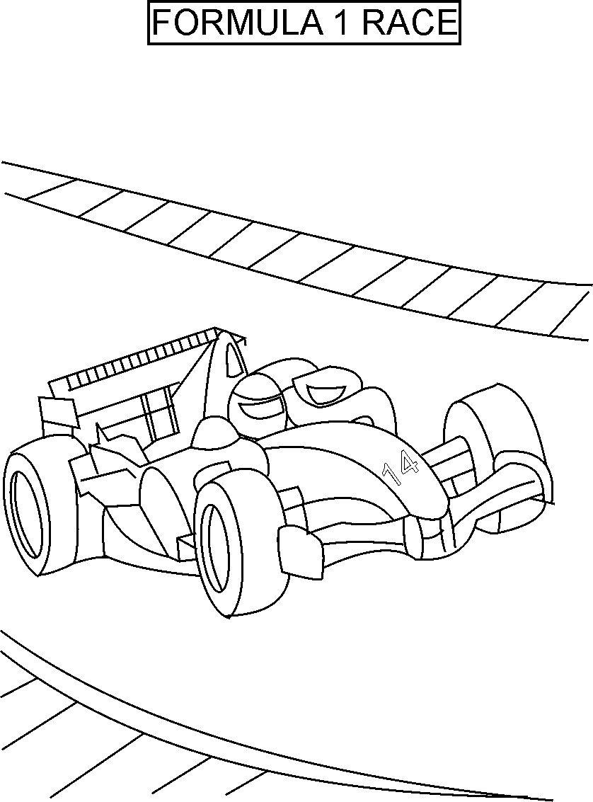 Free coloring pages race cars - Car Racing Coloring Pages