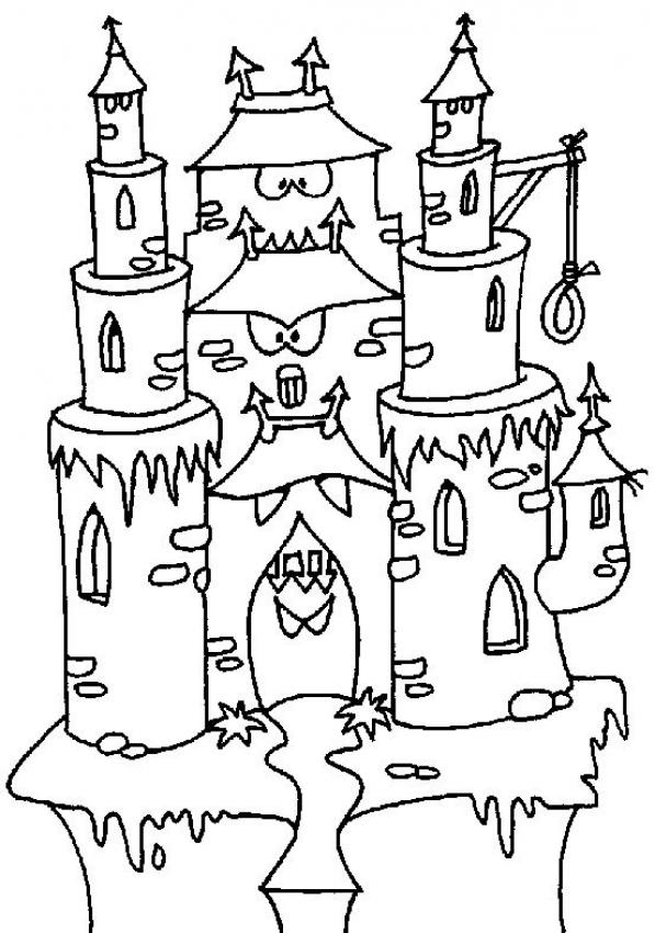 Castle Coloring Pages Kids