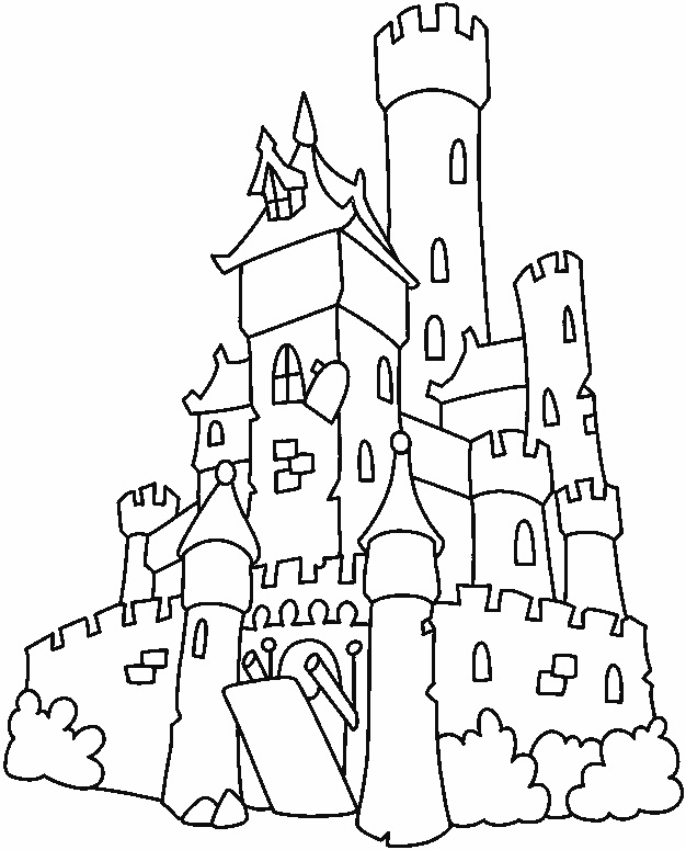 Castle Coloring Pages Printable For Kids