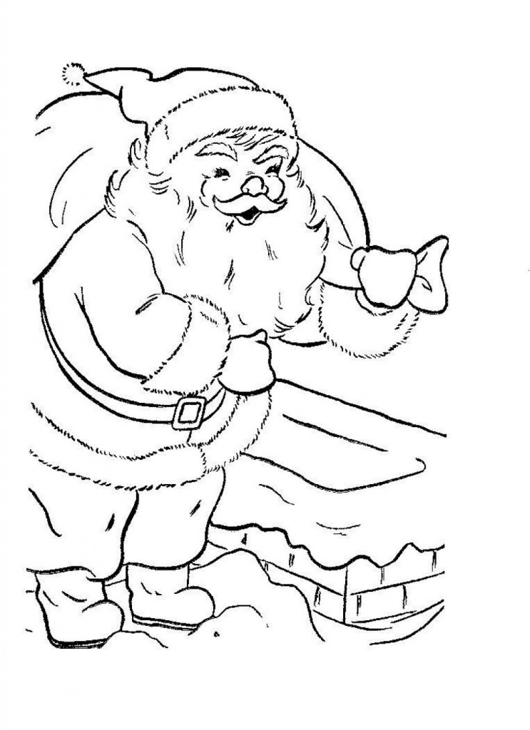 Christmas Santa Coloring Pages