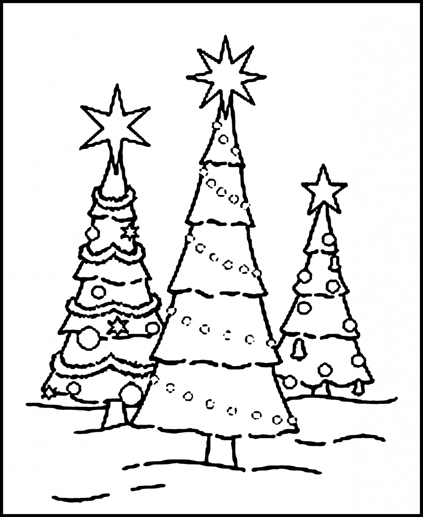 Blank Christmas Tree Coloring Pages New Calendar Blank Tree Coloring Page