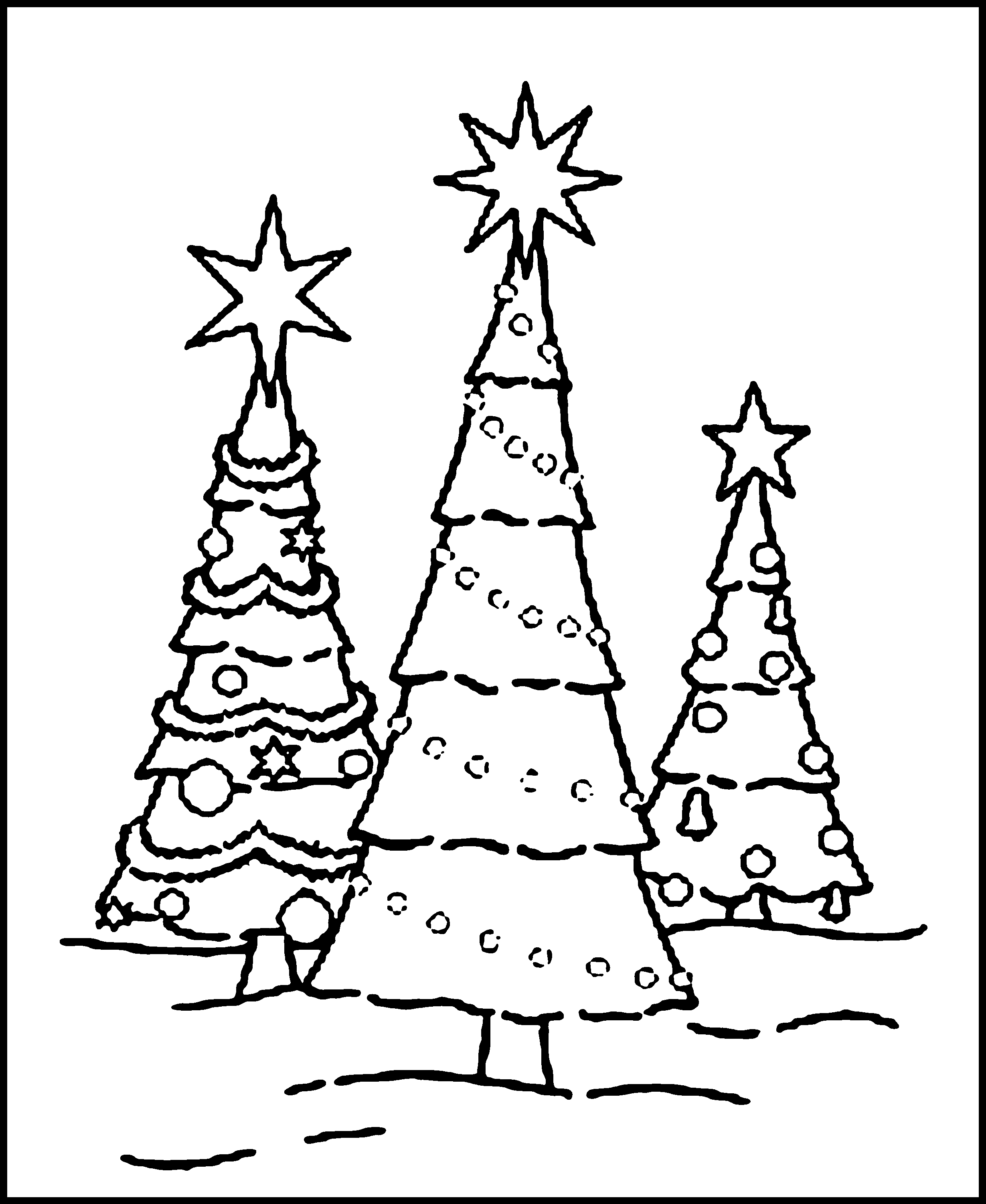 Kids coloring pages christmas trees printable - Christmas Tree Color Pages
