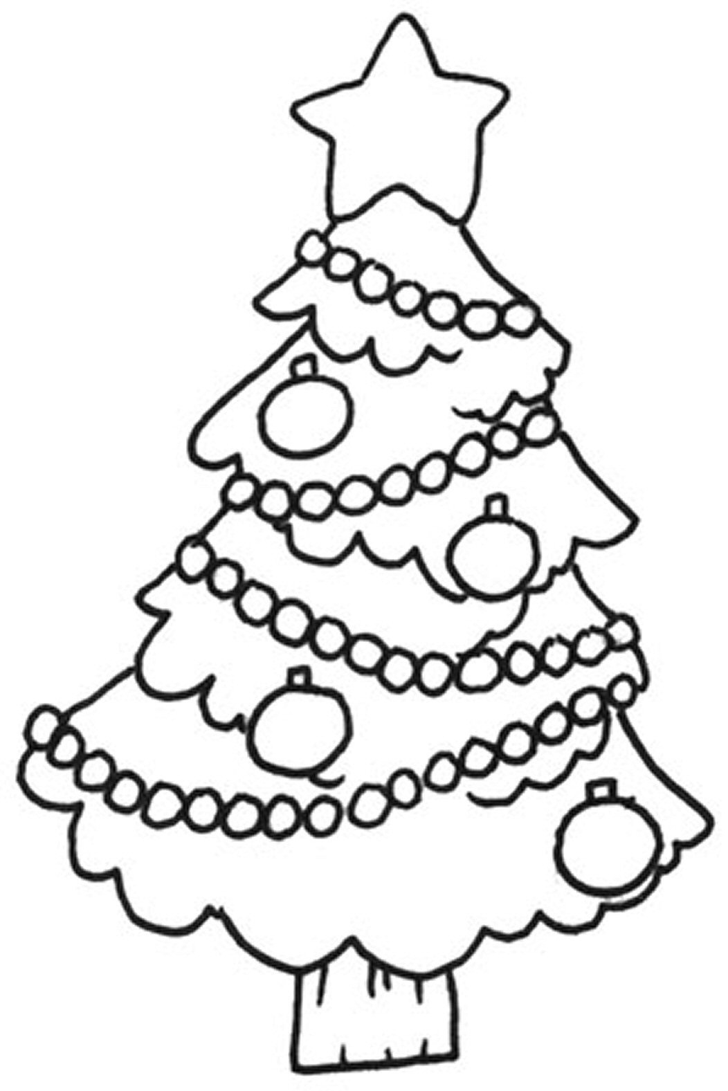 Kids coloring pages christmas trees printable - Christmas Tree Printable Coloring Pages