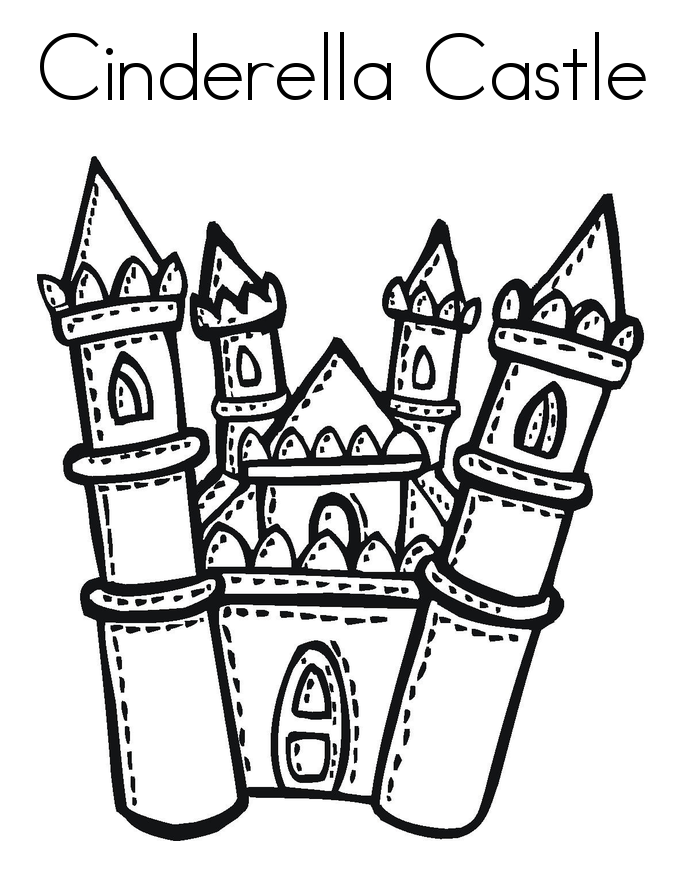 Free printable cinderella coloring pages for kids for Cinderella castle coloring pages print