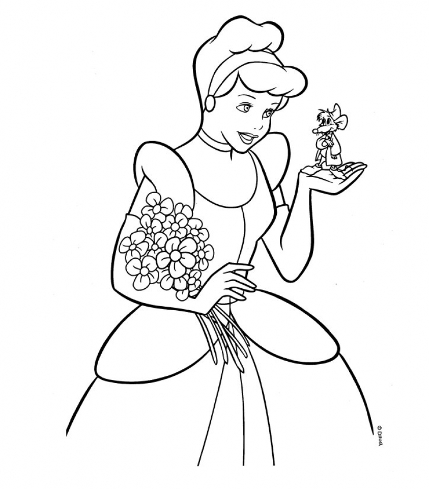 Free printable cinderella coloring pages for kids for Coloring pages t