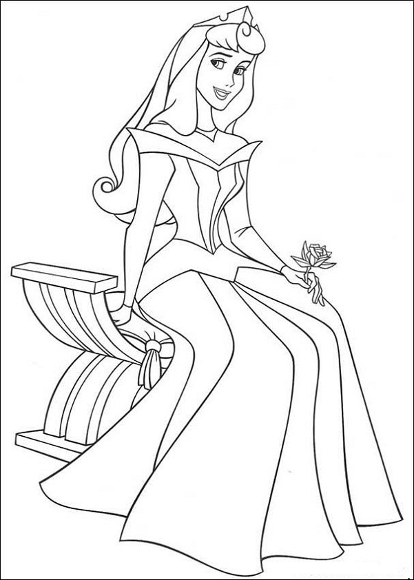 Cinderella Coloring Book Pages