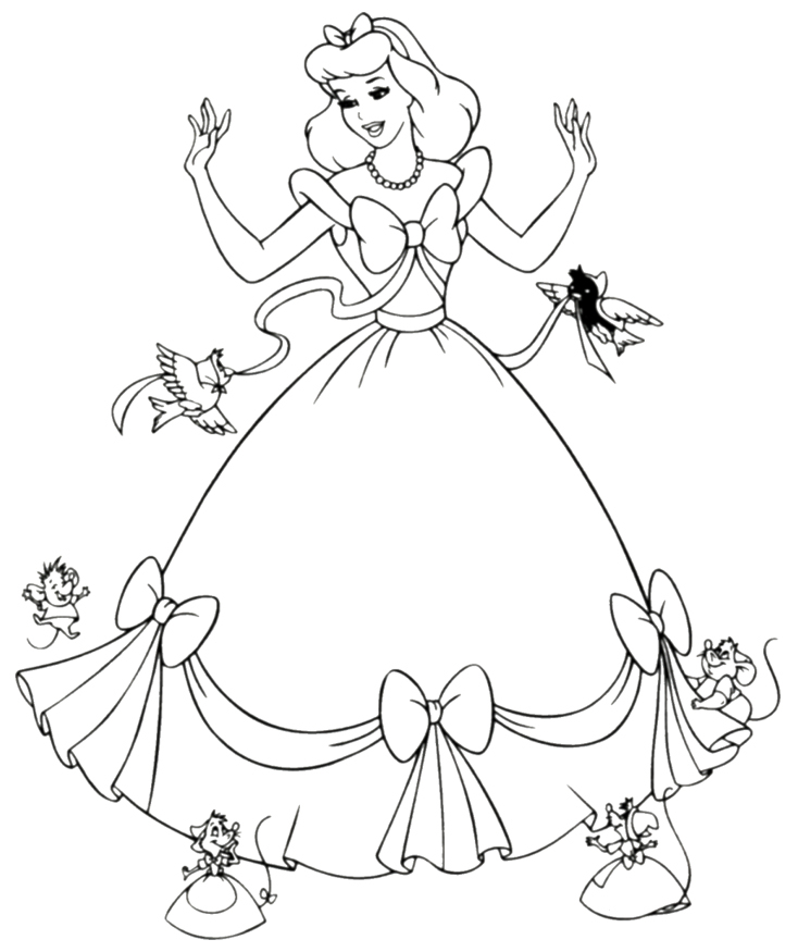 Cinderella coloring pages for kids printable cinderella coloring pages disney